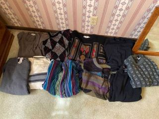 assortment of approx 10 nice sweaters  mostly size l