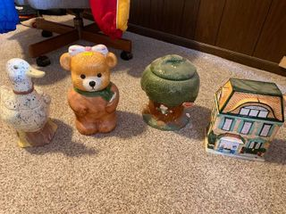 assorted home decor cookie jars