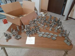 Assorted Pewter Figurines   Approximately 69 Pieces