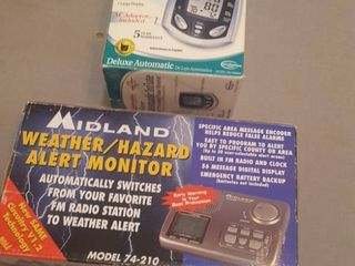 Weather Radio and blood pressure   pulse monitor