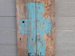 Barnwood with Painted Cross