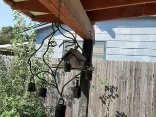 Hanging Dog Bell and Bird Feeder