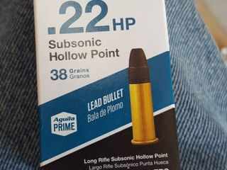 50 ct   22 HP subsonic hollow point bullets