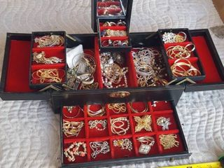 loaded jewelry box  Box and contents