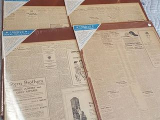 6 Old newspaper pieces