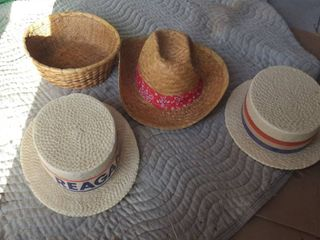 Hats and basket