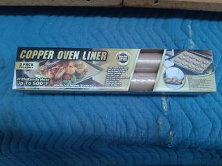 Copper Oven liners 19 7 x15 7  Reuse  Withstands Heat To 500