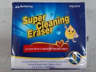 6 Pack Super Cleaning Erasers Maxenergy 4 5 X 2 5 X 1 Inch Each