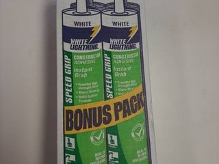 4 Pack White lightning Construction Adhesive
