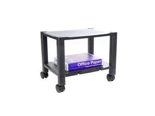 Mind Reader 2 Shelf Mobile Printer Cart with Cord Management  17 W  x 15 H  x 13 l  Black