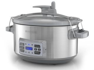 BlACK DECKER 7 Quart Digital Slow Cooker with Temperature Probe   Precision Sous Vide  Stainless Steel  SCD7007SSD