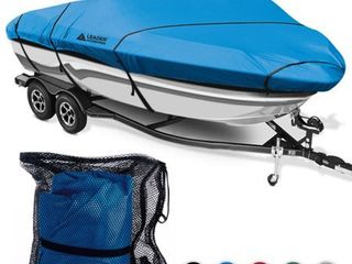 leader Accessories 600D Polyester Waterproof Trailerable V hull Tri hull Boat Cover