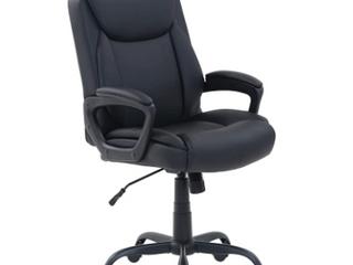 Amazonbasics Classic Pu padded Mid back Office Computer Desk Chair Black