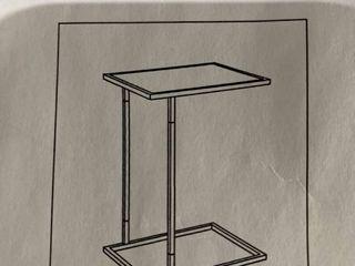 C Shaped Metal Side Table Grey