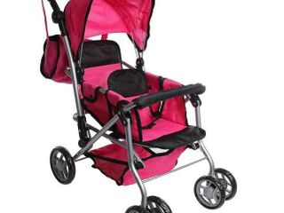 Mommy   Me TWIN Doll Pram Back to Back Foldable Doll Stroller