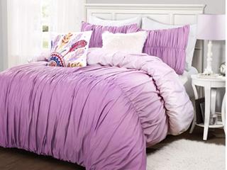 lUSH Decor   Full Queen Umbre Fiesta Purple 5pc Comforter Set