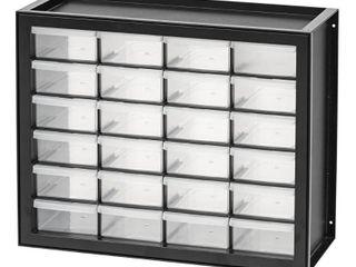 IRIS USA  24 Drawer Parts Cabinet  Black