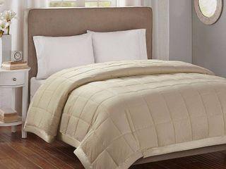 Bed Blanket Parkman Premium Oversized Hypoallergenic Down Alternative with 3M Scotchgard  Twin  Taupe