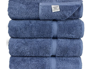 luxury Hotel   Spa Dobby Wedgewood Bath Towel Set of 4