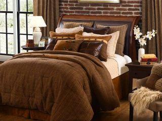 HiEnd Accents Crestwood Brown Wool 5 piece Comforter Set