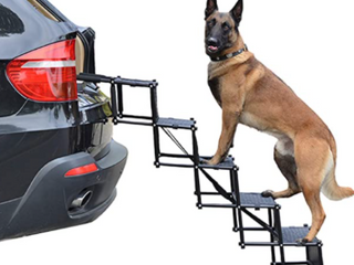 Upgraded Non Slip Car Dog Stairs 150 lbs large Dog