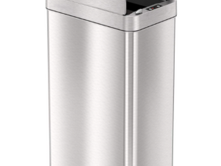 18 Gallon Wings Open lid Sensor Stainless Steel Trash Can