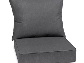 Outdoor Indoor Chair Cushion Set Charcole Grey