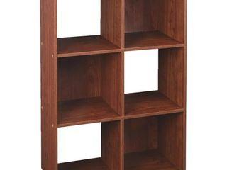 ClosetMaid Cubeicals 6 Cube Organizer Shelf   Dark Cherry