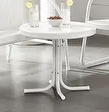 Metal Outdoor Conversation Table  White Finish Retail 202 49