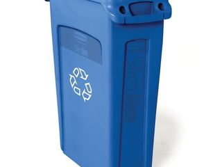 Rubbermaid Commercial Products BlUE Venting Slim Jim Recycling Waste Container  Blue   Retail  55 00