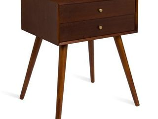 Kate and laurel Finco Nightstand Side Table with 2 Drawers  Retail 139 99