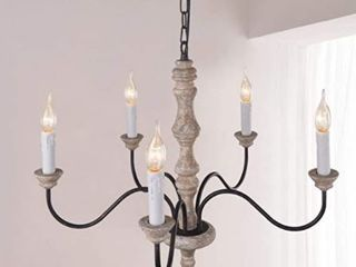 5 light Farmhouse Wood Chandelier for Dinning Room Retail 128 99