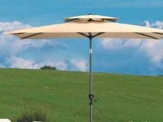 Crestlive Products 9 x 5 FT Double Top Patio Outdoor Market Umbrella Retail 103 49