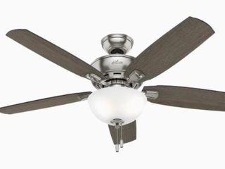 Hunter Creekside led 52  Brushed Nickel led Indoor Ceiling Fan W  light Kit