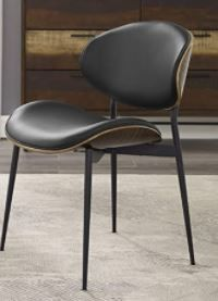 Art leon Mid Century Bentwood Accent Upholstery Dining Chair  Retail 141 99