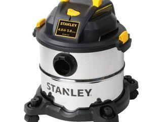 Stanley 5 Gal  4 0 Peak HP Wet Dry Vac  Metallics