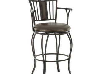 Berkshire 24 or 30 inch Jumbo leather Swivel Stool by Greyson living  Retail 242 99