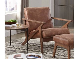 Bianca Solid Wood Chair Camel Brown   Buylateral