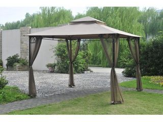 Sunjoy Replacement Canopy Set for l GZ136PST F 10 x10  Claremont Gazebo  Retail 98 49 Canopy Only