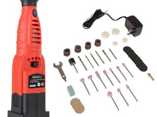Cordless Rotary Tool and Accessories Kit 40 Piece Multifunction Attachment Set by Stalwart