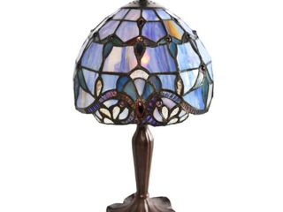 River of Goods 14 75  Stained Glass Allistar Accent lamp   8 l x 8 W x 15 H  Retail 79 98