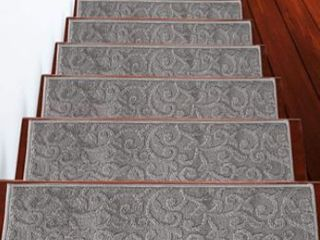SUSSEXHOME leaves Collection Stair Treads 100  Polypropylene 9 x28