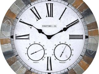 18  FirsTime Garden Stone Wall Clock   Multi Color