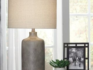 linus Antique Black Contemporary 25 Inch Table lamp   14  W x 14  D x 25  H Retail 75 48