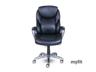 Serta My Fit Executive Office Chair with Active lumbar Support  Retail 296 99