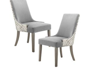Madison Park Hale Grey Dining Chair  Set of 2  Retail 376 49
