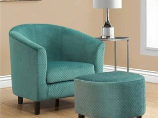 Copper Grove Muret Turquoise Quilted Accent Chais