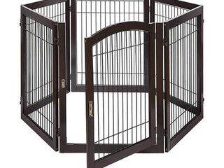 Unipaws Pet Playpen for Dogs  Freestanding 6 Panels Dog Gate   Retail 209 49