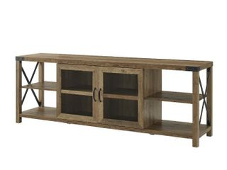 70  Farmhouse Metal X TV Stand   Reclaimed Barnwood