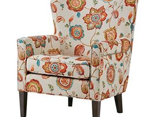 Madison Park Halford Accent Wingback Chair 3 color Option  Retail 389 99